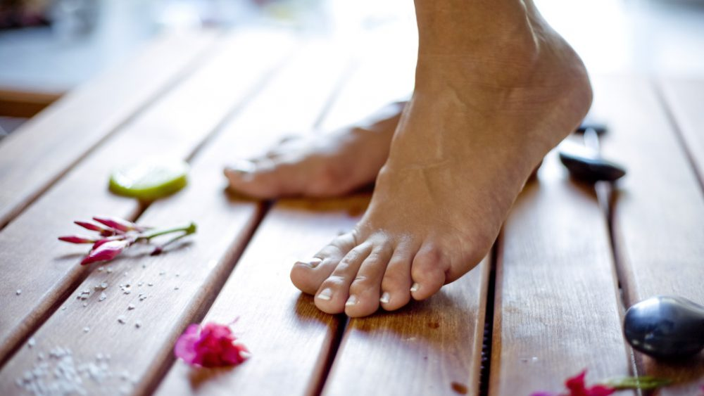feet in a fresh setting